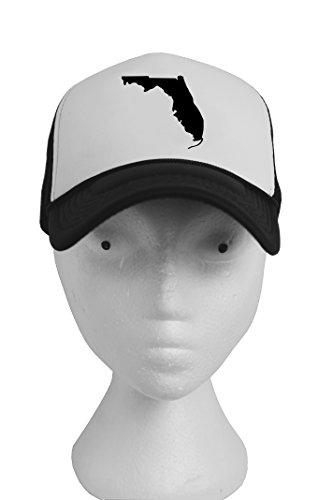 Snapback trucker black white baseball cap adjustable mesh poly hat United States shape classic design men women unisex one size fits all (Party City Richardson)