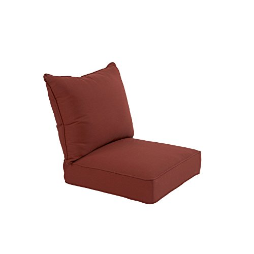 allen + roth Sunbrella 2-Piece Canvas Chili Deep Seat Patio Chair Cushion ()