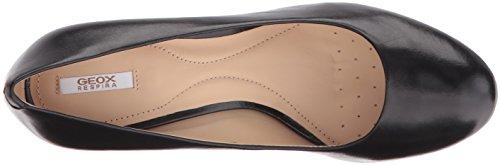 Geox D NEW MARIECLAIRE HI - zapatos de tacón cerrados de cuero mujer Schwarz (BLACKC9999)