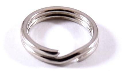 Anillas para llavero de acero galvanizado, 10 mm, 200 ...