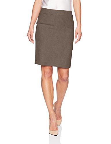 Calvin Klein Womens Skirt - Calvin Klein Women's Petite Lux Straight Skirt, Heather Taupe, 12P