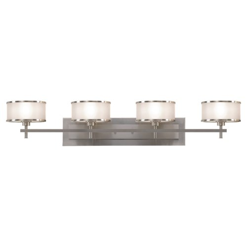 Feiss VS13704-BS Casual Luxury 4-Light Vanity Fixture, Brushed Steel by Feiss