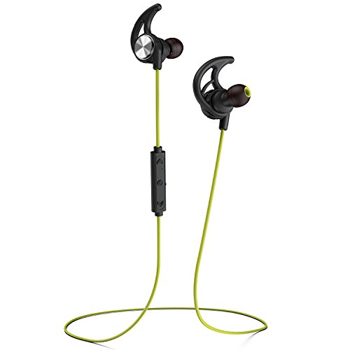 Phaiser BHS 750 Bluetooth Headphones Wireless Earbuds Magnetic Stereo Earphones for Running with Mic and Lifetime Sweatproof Guarantee Limegreen