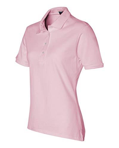 Jerzees womens 5.6 oz. 50/50 Jersey Polo with SpotShield(437W)-CLASSIC PINK-XL