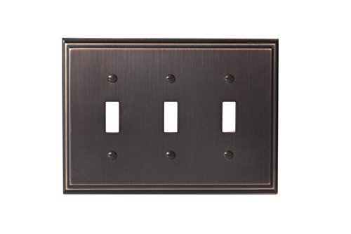 Amerock BP36516ORB Mulholland 3 Toggle Wall Plate - Oil-Rubbed Bronze Amerock Mulholland Cabinet Knob