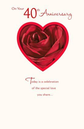 40th Ruby Wedding Anniversary Greeting Card