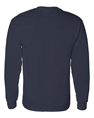 Uber Driver New Logo Mens Gildan Heavy Cotton Long Sleeve T Shirt Tee New Navy Blue W Black