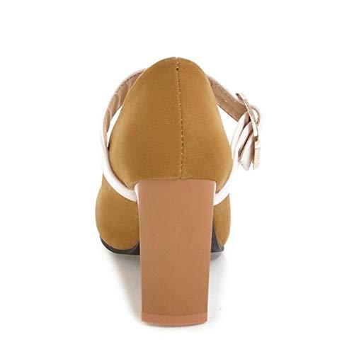 Moda Melady Mary Giallo Pumps Heels Janes Donne 5ggWn4qw8