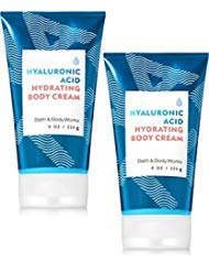 Bath and Body Works 2 Pack Water Hyaluronic Acid Hydrating Body Cream.8 Oz