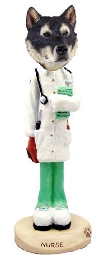 Alaskan Malamute Nurse Doogie Collectable Figurine