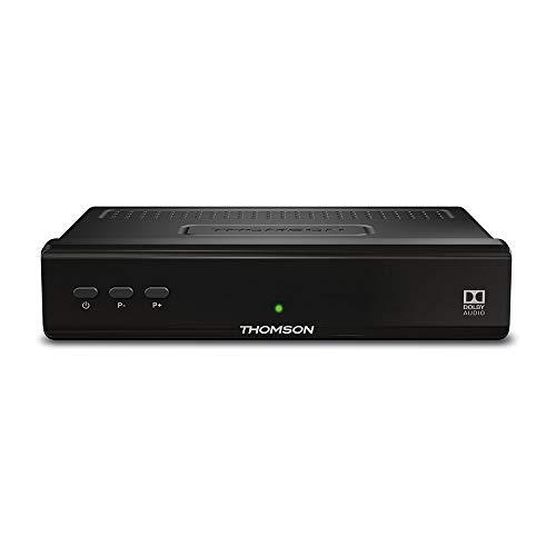 Thomson THS210 Décodeur Satellite HD Free-to-Air, SatCR supporté, RSS Feed, noir
