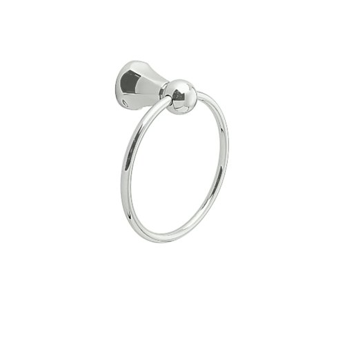 Jado 018/150/150 818 Series 6-Inch Towel Ring, Platinum Nickel