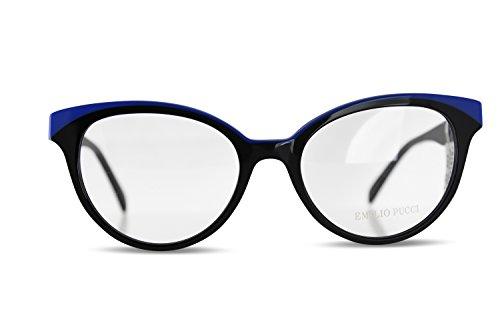 38d64a2463a16a Emilio Pucci - Monture de lunettes - Femme Multicolore Multicolore  Multicolore - Noir bleu ...
