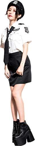 (ディータ) Dita コスチューム ポリスコスチューム ハロウィン コスプレ衣装 5点セット(シャツ、スカート、ネクタイ、帽子、手錠) Mサイズ WHT(ホワイト)