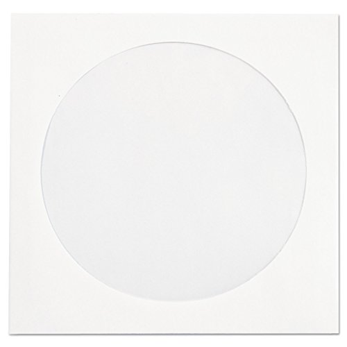 - Quality Park Paper CD/DVD Sleeve, Ungummed, White, 4.825 x 5, 250 per Box, (62905)