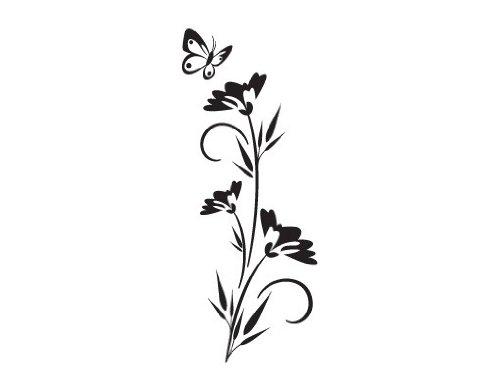 Apalis Fenstersticker No. 80 Floret – Glas Fenster Film selbstklebend   Milchglas Glas Film 5 Farben Fenster Film Folie Sichtschutz Milchglas Badezimmer Farbe  Frosted, Maße  149 cm x 60 cm B00V0IKS3A Fensterbilder