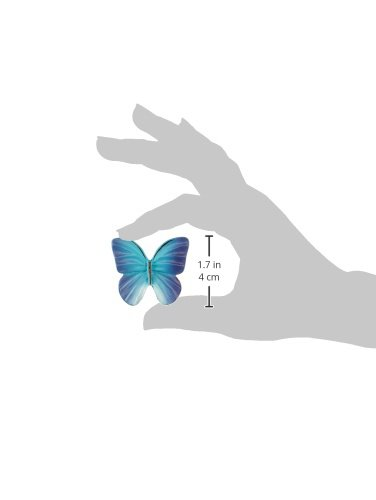 Blue 1.9-Inch Siro Designs SD72-110 Butterfly Knob