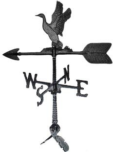 Montague Metal Products 24-Inch Weathervane with Duck Ornament -