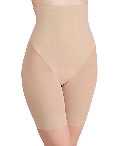 TC Fine Intimates Firm Control High-Waist Thigh Slimmer, L, Nude by TC Fine Intimates (Image #2)