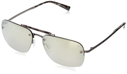 John Varvatos Mens V511 V511GUN60 Rectangular Sunglasses, Gunmetal, 60 - Men's Sunglasses Varvatos John