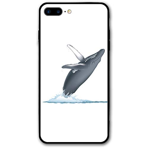 iPhone 7 Plus Case, iPhone 8 Plus Case California Monterey Bay Whale Shock-Absorption Bumper Cover, Anti-Scratch Clear Back Suitable for 5.5 Inches