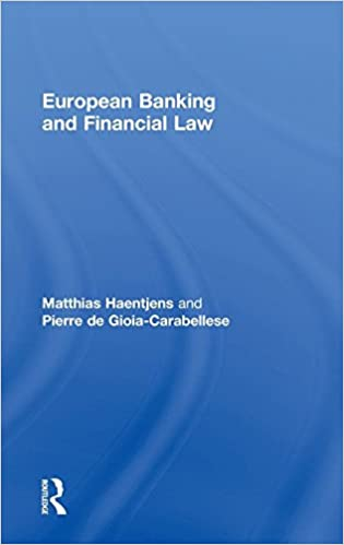 Book European Banking and Financial Law