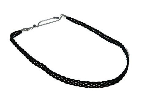 PANDORA Woven Fabric Choker, Black 590543CBK-32