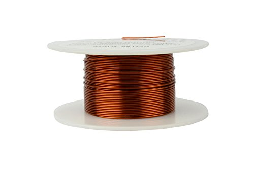 Enamel Magnetic (TEMCo 22 AWG Copper Magnet Wire - 4 oz 125 ft 200°C Magnetic Coil Winding)