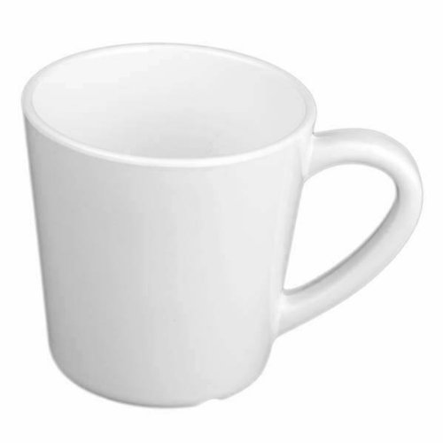 Global Goodwill Coleur Series 12-Pieces 7-Ounce, Mug/Cup, 3-1/8-Inch, Coleur White