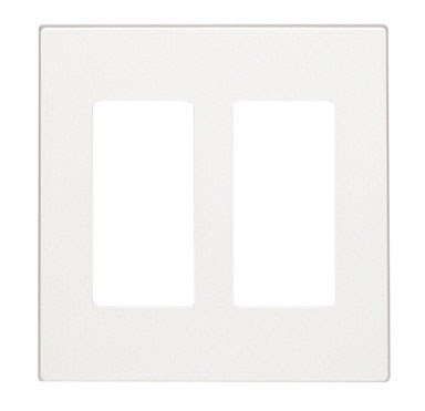 Decora Style Wall - Leviton Decora Style Two Gang Screwless Wall Plate (C22-80309-0SW)