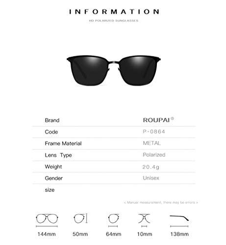 Oro Gafas silver Polarizados Hombres El Etc De De Negro Black UV Clásico Estilo 400 Sol Pilotos Protege Los rIY6qrwT