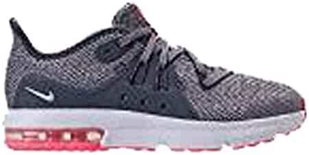 new style 2ae66 66180 Nike Kids Air Max Sequent 3 (PS) Light Carbon Grey Metallic-Silver