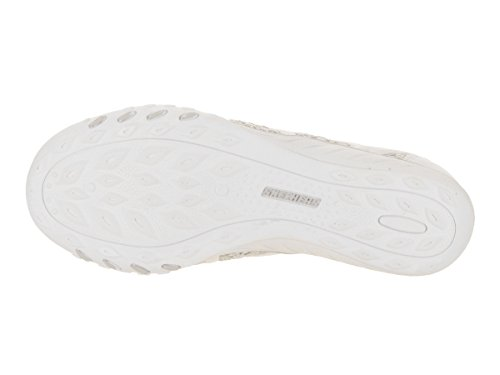 Sweet Easy Women's Relaxed Fit Darling Sneaker Breathe Silver Skechers White q4pwBS