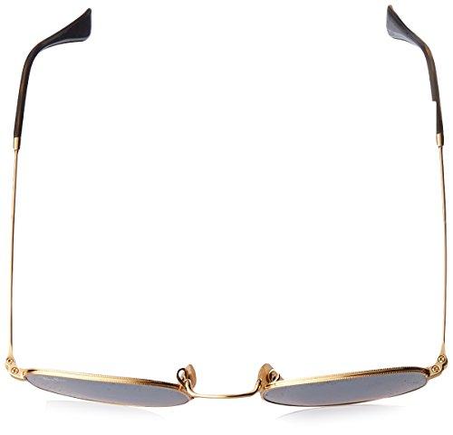 Ray-Ban Unisex RB3548N Hexagonal Sunglasses - Gold Frame Copper Flash Lenses, 51 mm