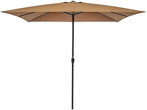 Best Choice Products 8x11ft Rectangular Patio Market Umbrella w/Rust-Resistant Frame