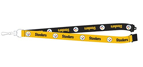 Pro Specialties Group NFL Pittsburgh Steelers Two-Tone Lanyard, 18-inches, Yellow