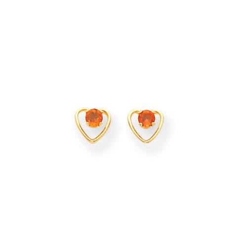 3 Mm Citrine Heart - 4