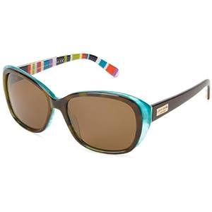 Kate Spade Hilde/P/S Hilde/P/S Polarized Cat Eye Sunglasses,Olive/Tortoise/Turquoise,54 mm