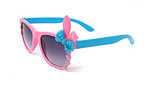 Cheap Costume Ideas Book Characters (Ultra Cute 3D Multi Color Costume Play Glasses for children kids lens Bunny Heart Bow Frames (Pink With Blue Bow))