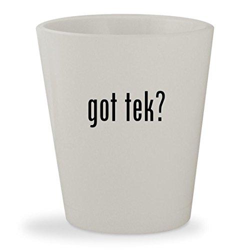 Light Tek T5 (got tek? - White Ceramic 1.5oz Shot Glass)