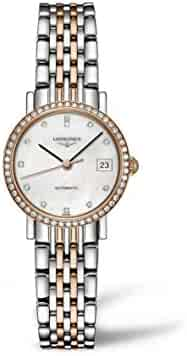 Longines Elegent Ladies Automatic Pink Gold & Diamonds 25 MM - L4.309.5.88.7