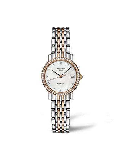 Longines Elegent Ladies Automatic Pink Gold & Diamonds 25 MM - L4.309.5.88.7