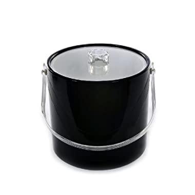 Mr. Ice Bucket 708-1 Regency Black Ice Bucket, 3-Quart