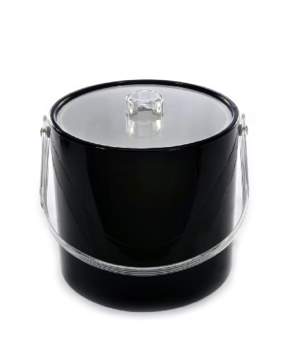 (Mr. Ice Bucket 708-1 Regency Black Ice Bucket, 3-Quart)