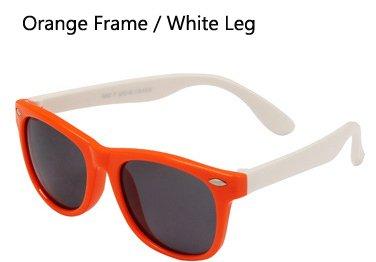 flexibles Hykis Gafas sol sol Gafas de Sombras os UV400 los polarizadas ni seguridad os de de os TPEE sol Pierna Blanco ni de Ni Naranja Recubrimiento gafas TR90 con Gafas wr5wHA