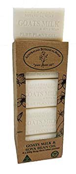 Australian Botanical Soap, Goat s Milk Soya Bean Oil Plant Oil Soap, 7 oz. 200g Bars – 8 Count