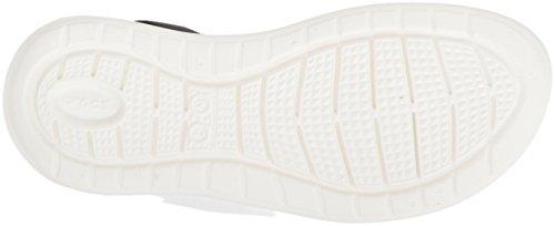 black W Ouvert 066b Bout Sandales Femme Crocs white Noir blanc Literide wFSTq8x74