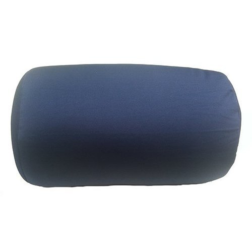 "Cushie Pillows 7"" x 12"" Microbead Bolster Squishy/Flexible/Hypoallergenic/Extremely Comfortable Roll Pillow - Navy Blue -"