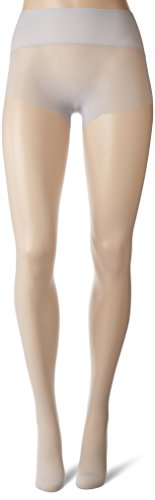 HUE Women's Flat-Tering Fit Sheer Tights, Chrome, 02 by HUE