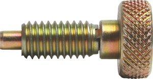 1/2''-13 Dia x 1.380''L 0.5lb-4lb Force Steel Alloy Knurled Knob Retractable Plunger